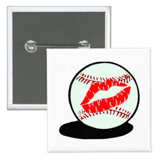 Beso del béisbol pin