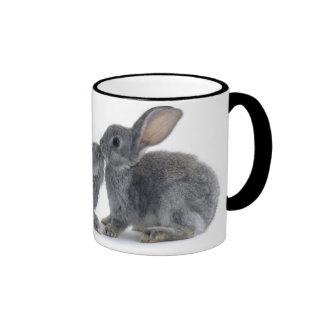Beso del conejo taza a dos colores