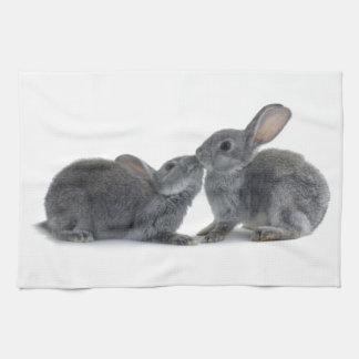 Beso del conejo toallas de cocina