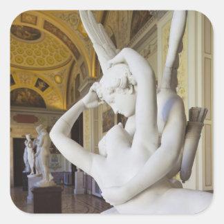 Beso del Cupid y de la psique por Antonio Canova Pegatina