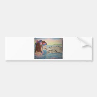 Beso del delfín etiqueta de parachoque