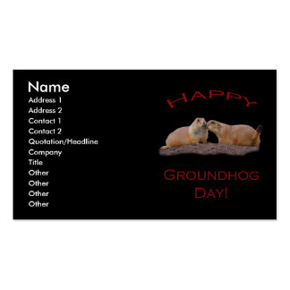 Beso del día de la marmota tarjetas de visita