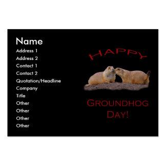 Beso del día de la marmota tarjetas de visita grandes