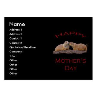 Beso del día de madre tarjetas de visita grandes