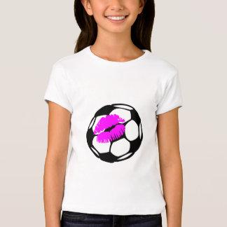 Beso del fútbol (rosa) camisas