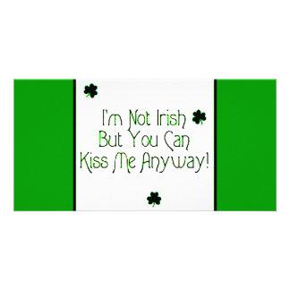 Beso del irlandés tarjetas con fotos personalizadas