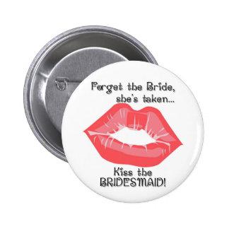 Beso del KRW el Pin del botón de la dama de honor