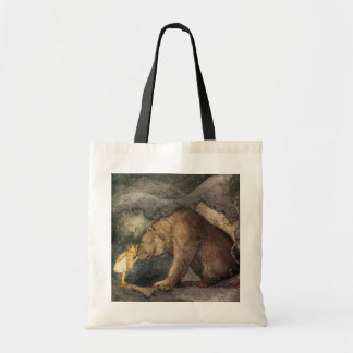 Beso del oso bolsa tela barata