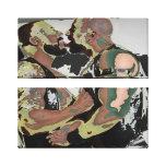 Beso del oso en la lona doble (retroceso 60s) impresión en lienzo estirada