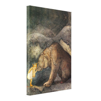 Beso del oso lienzo envuelto para galerías