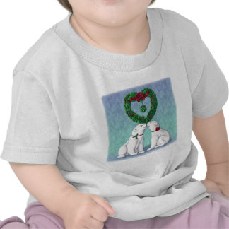 Beso del oso polar camisetas