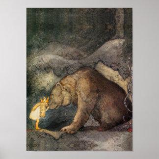 Beso del oso póster