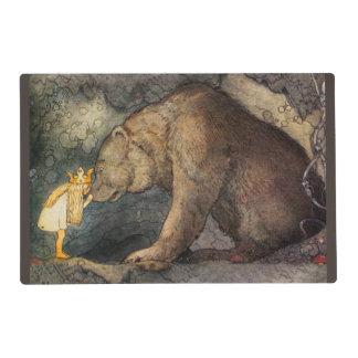 Beso del oso tapete individual