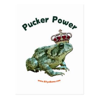 Beso del sapo de la rana del poder del fruncido postal
