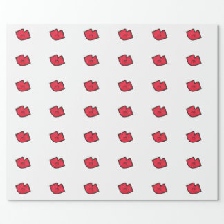 "Beso del Sharpie - papel de embalaje mate, 30"" x Papel De Regalo"