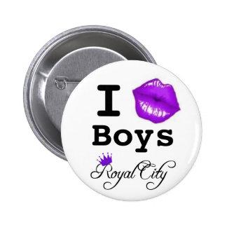 beso el botón de los muchachos pin redondo de 2 pulgadas