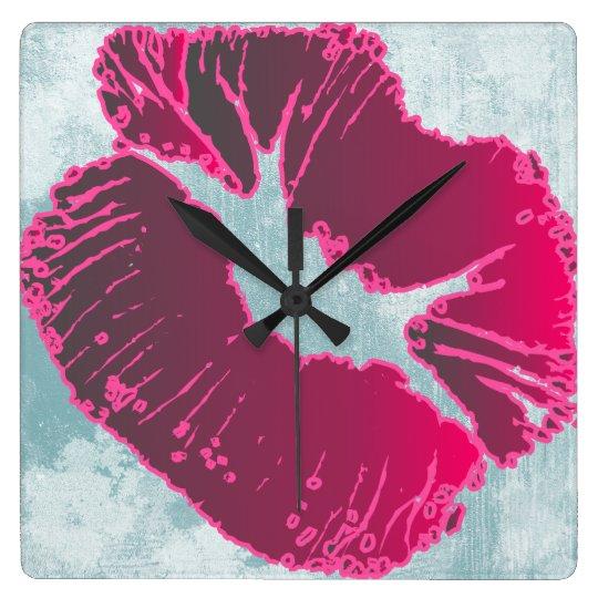 Beso en marrón reloj cuadrado