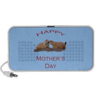 Beso feliz del día de madre laptop altavoces