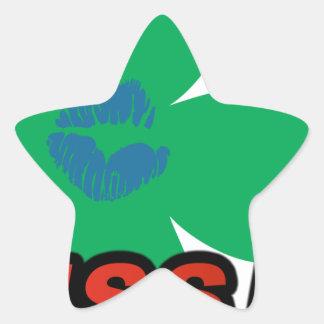BESO FM Irlanda Calcomanía Forma De Estrella Personalizadas