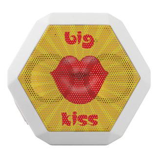 Beso grande de los labios rojos solares de oro de altavoces bluetooth blancos boombot REX