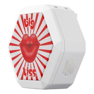 Beso grande de los rayos solares rojos de los altavoces bluetooth blancos boombot REX