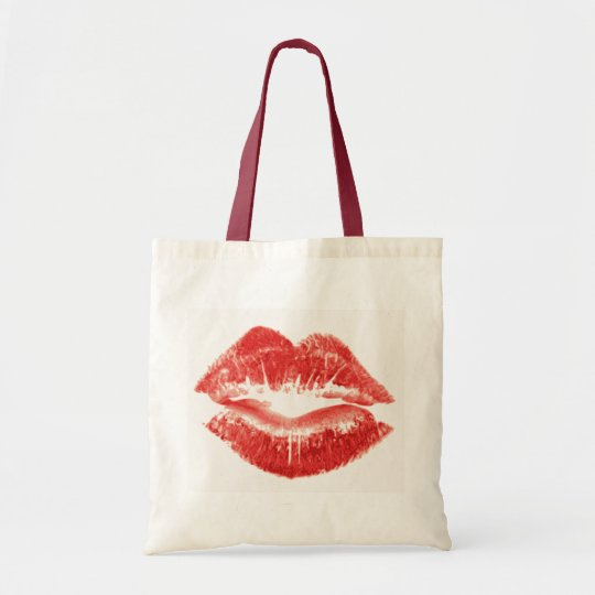 Beso, labios rojos