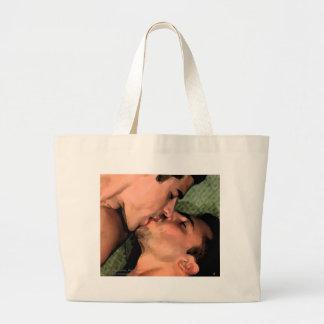 Beso latino bolsa tela grande