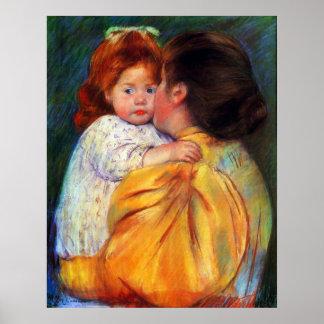Beso maternal 1896 de Maria Stevenson Cassatt Poster