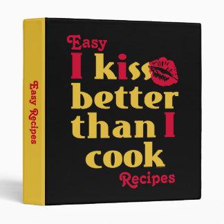 Beso mejor que carpeta de la receta del cocinero