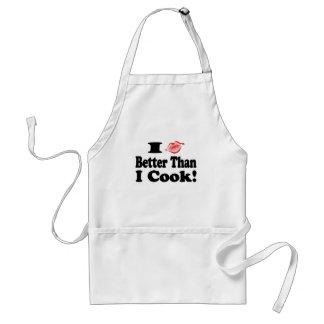 Beso mejor que cocinero delantal