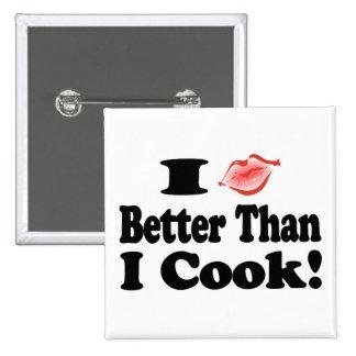 Beso mejor que cocinero pin cuadrado