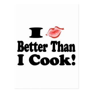Beso mejor que cocinero postal