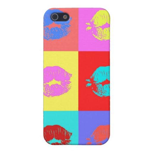 Beso multicolor iPhone 5 coberturas