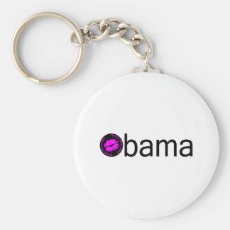 Beso Obama-Negro) Llavero Redondo Tipo Pin
