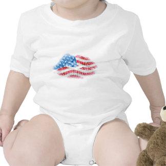 Beso patriótico trajes de bebé