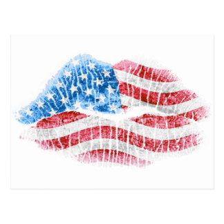 Beso patriótico postales