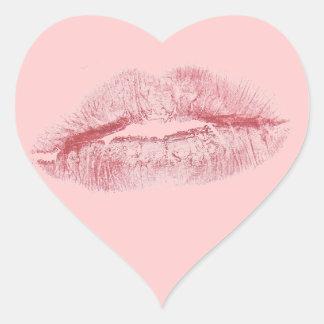 Beso Pegatina En Forma De Corazón
