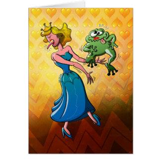 Beso repugnante para una princesa tarjeta de felicitación