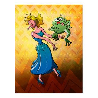 Beso repugnante para una princesa tarjetas postales