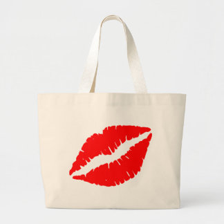 Beso rojo bolsa tela grande