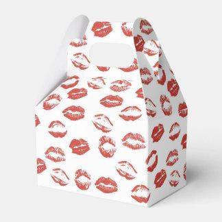 Beso rojo de los labios cajas para regalos
