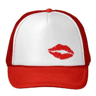 Beso rojo de los labios gorra