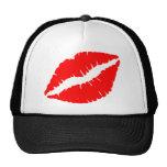 Beso rojo gorros