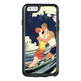 Beso romántico de la onda de la playa del amor del funda otterbox para iPhone 6/6s