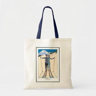 Beso romántico del amor del art déco del vintage bolsa tela barata