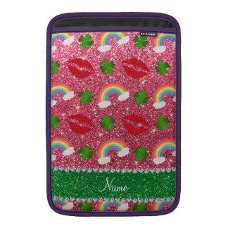 Beso rosado fucsia conocido de los arco iris de fundas macbook air
