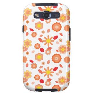 Beso simple del Floral-sol Galaxy S3 Carcasa