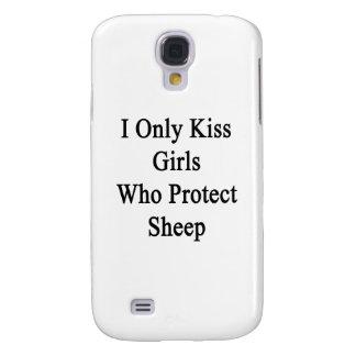 Beso solamente a los chicas que protegen ovejas funda para galaxy s4