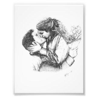 Beso verdadero de los amores cojinete