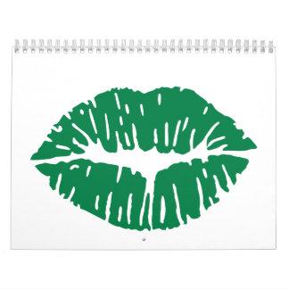 Beso verde calendario